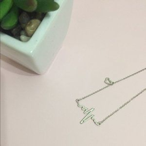 Jewelry - Heartbeat Silver Charm Necklace